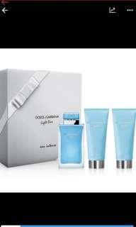 Authentic D&G Light Blue Eau Intense Gift Set for Women