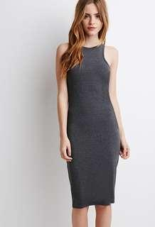 Classic Stretch Knit Midi Dress