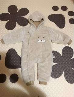 🚚 二手嬰兒連身衣秋冬款