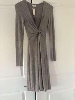 Wilfred dress (NWT)in marl brownish grey. XXS but has a stretch so can fit in until a small.