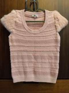 🚚 藕色短毛衣