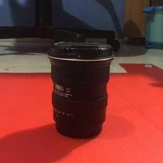 Lensa Tokina 11-16 mm f 2,8 for Canon