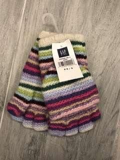 "Gap kids ""STRIPES"" knitted gloves with caps"
