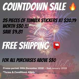 COUNTDOWN SALES 2019 • Tumblr Luggage Sticker Free Shipping