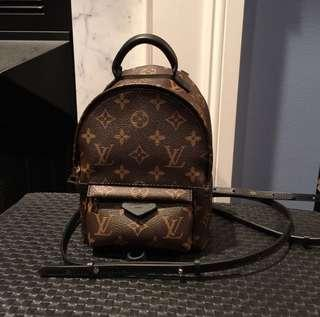 Louis Vuitton mini palmsprings backpack