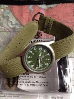 Original smith and wesson 3 band military watch