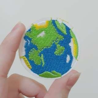 🚚 地球造型刺繡布貼#居家大掃除