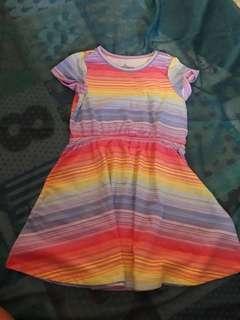 Dress anak rainbow