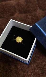 🚚 只賣天然貸品 蜜蠟心形925銀戒指