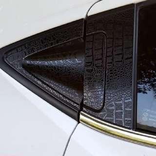 Honda Vezel HRV accessories - rear door handle protector (black crocodile skin texture sticker)