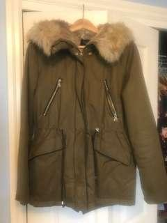 Zara Army Green winter jacket size small