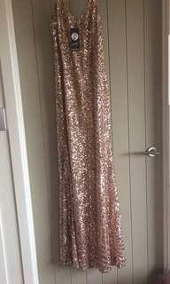 Mesh sequin dress size 14