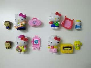 Hello Kitty Figures and playset, Set of 4