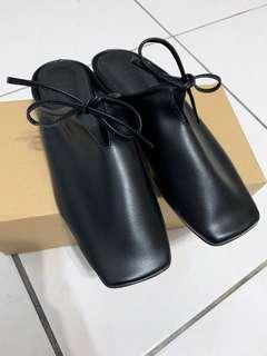 🇰🇷黑軟Q綁帶簡約拖鞋