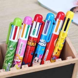 🚚 6in1 Multi Colour Cartoon Pen