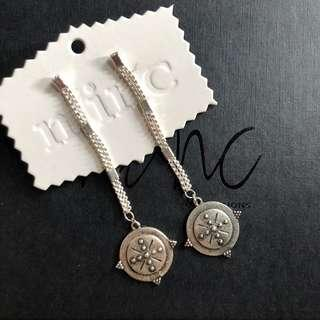 Minc silver coin earrings