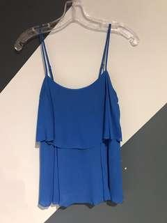 BCBG Maxazria top - adjustable straps - xxs - Blue