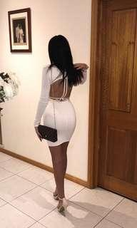 Zachary the Label white backless dress