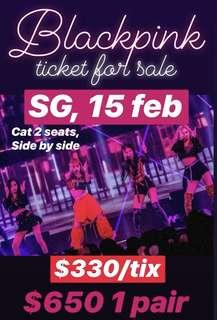 BLACKPINK CAT2 (2 tix-sect 228-physical ticket)