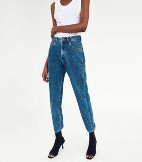 Zara Hi-Rise Mom Jeans *PRICE IS FIRM*
