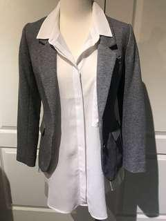 H&M - New - Elbow patch grey blazer - size 2
