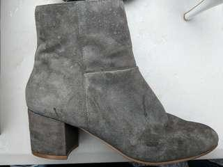 rmk grey suede boots size 8