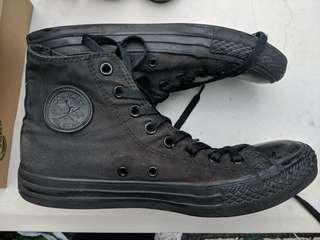 Converse hi tops all black size UK 8