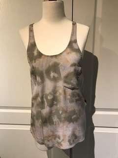 Aritzia Wilfred 100% silk racerback tank top