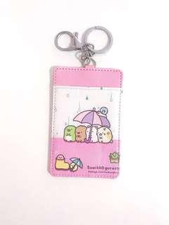Raining Day San X Sumikko Gurashi Student Bus MRT Card Holder Keychain