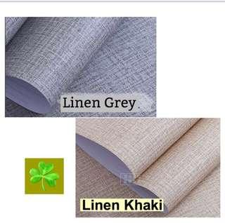 5 Metres Linen Pattern PVC Stickers