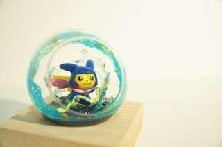 手作玻璃球 精靈球 寵物小精靈 甲賀忍蛙比卡超 Pokemon Pokeball Pikachu 禮物訂造 扭蛋公仔