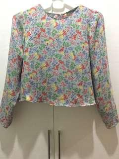 Zara Basic Floral Blouse