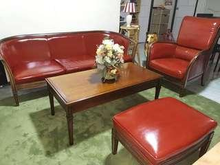 Imported Sofa Set Genuine Leather