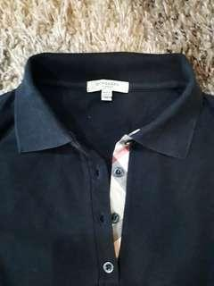 Black Polo Shirt Burberry