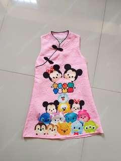 Tsum Tsum Girl's dress(3-4years)