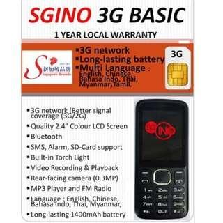 [LAST PIECE!!] SGINO BASIC 3G Senior Basic Phone