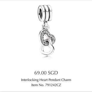 Pandora Interlocking Heart Pendant Charm