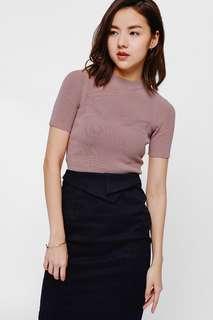 Love bonito Tanina Knit Crop Top in Blush - Size XS