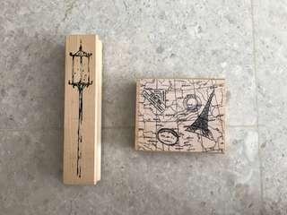 Rubber stamps made in USA