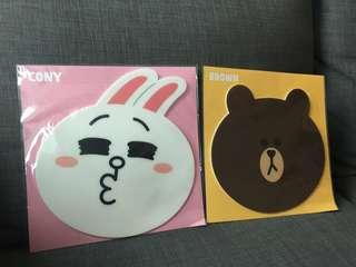 Line 公仔 Cony Brown 滑鼠墊 Mouse Pad