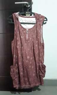 Casual Dress Maroon