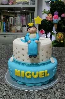 2-Layer Little Prince Theme Fondant Cake