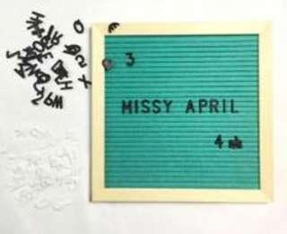 Brand New Mint Felt Letterboard