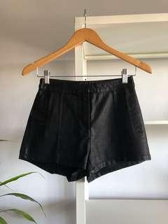 Bardot Faux Leather Shorts