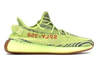 Adidas Yeezy Boost 350 V2 Semi Frozen Yellow US8