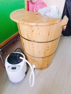蒸腳機連蒸腳木桶