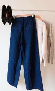 High waisted jeans culottes