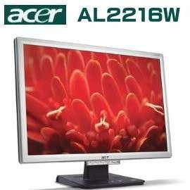 Acer AL2216W 22吋液晶螢幕 (銀黑  )