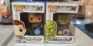 Funko pop glowing one and power armor unmasked nycc fallout 3 4 76 Las Vegas ps3 ps4