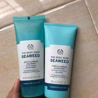 the body shop seaweed gel wash & exfoliator